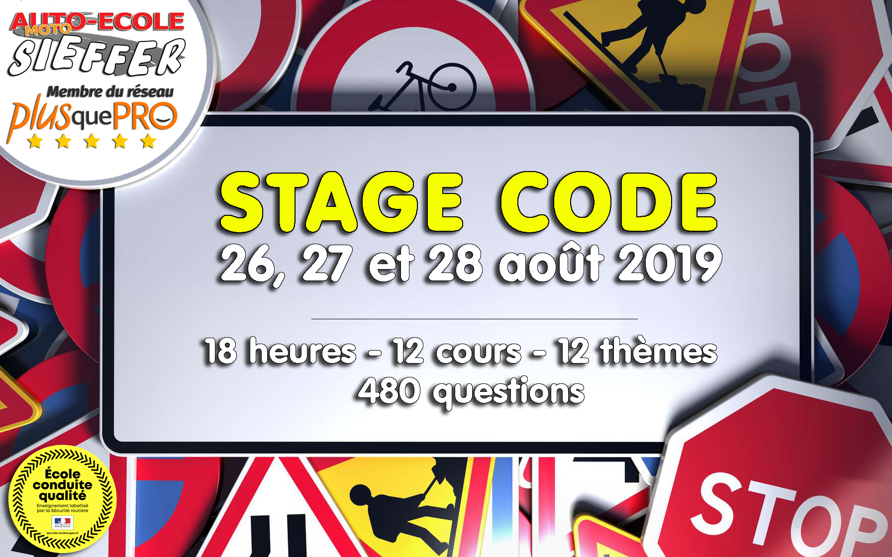 Stage Code Août 2019 - Auto-Moto Ecole Sieffer